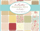 3 SISTERS FAVORITES - Moda Fabric Charm Pack - Five Inch Quilt Squares Quilting Material Blocks