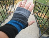 Reserved for Rebecca - Wrist Warmers / Fingerless Gloves  re-purposed felted wool -hand warmers