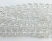 Transparent Faceted Crystal Clear Glass Beads 8mm (30) bds1501H