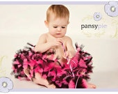 Hot Pink And Black Tutu Pink And Black Pettiskirt Toddler Tutu Dress Infant Tutu 9 12 18 Month