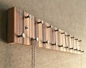 Jewelry Organizer, Jewelry Hanger, Jewelry Display, Necklace and Ring Organizer, Modern Metal and Wood