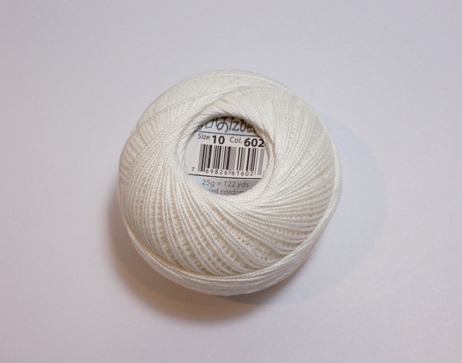 Ivory Crochet Thread Lizbeth Size 10 Cotton by GriffithGardens