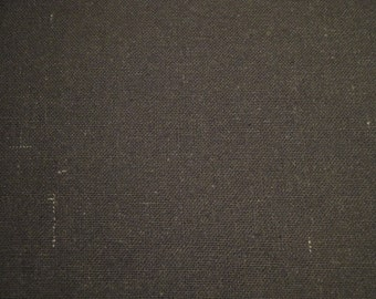 FLAWED Black Osnaburg Cotton Fabric 1 Yard