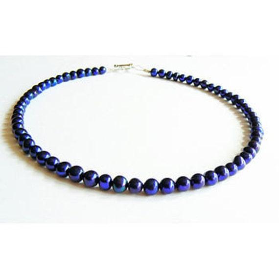 Midnight Blue Freshwater Pearl Bracelet