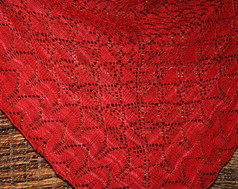 Hand Knit Lace Shawl - Double Blooming Bella Botanica