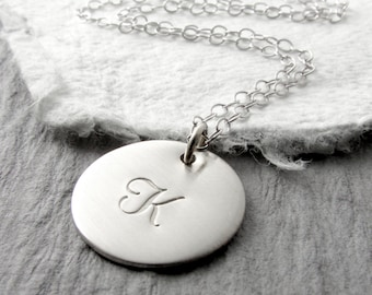 White Gold Initial Necklace Personalized White Gold Charm Necklace Personalized Jewelry Gold Jewelry 14k White Gold Mother's Day Gift