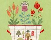 Herbal Bouquet Print 8.5 x 11