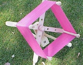 Yarn Swift - Mini Windmill Traveler Tripod Swift - Cobweb and Laceweight Size - Portable, Versatile, Accurate, Non-Skid table or Floor Use