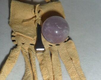 Healing Crystal Orb  Amethyst Amulet