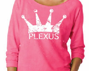 Plexus Long Sleeve Raglan Crown Shirt - Pink