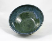 Pottery Bowl, Oasis Blue Green