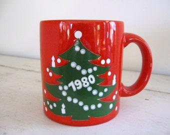 Waechtersbach Christmas Tree Mug 1981