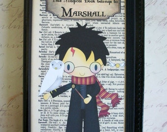 Magical Characters - Harry Potter Leather journal -  Personalized - Stocking Stuffer - Choice of characters - HPJ 777564