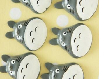 6 pcs Totoro Cabochon (26mm31mm) DR475 (((LAST)))