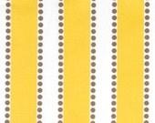 Clearance Premier Prints Lulu- Corn Yellow and Taupe on White Slub - Fabric by the Yard Yellow Fabric Home Decor Fabric