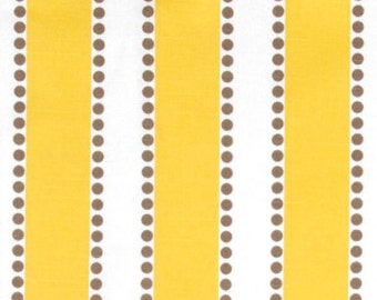 Clearance Premier Prints Lulu- Corn Yellow and Taupe on White Slub - Fabric by the Yard Yellow Fabric Home Decor Fabric