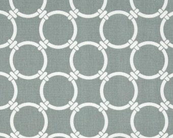 Premier Prints Linked in Gray- Fabric by the Yard - Home Decorating Fabric Gray Fabric Chain Link