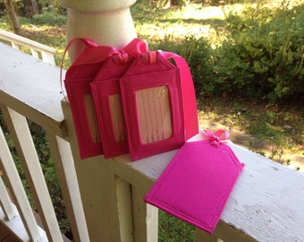 On Sale/Luggage Tags/Solid Pink/retired fabric