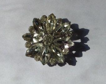 brilliant rhinestone vintage pin