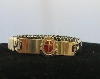 vintage religious altar boy bracelet