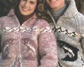 8 page PDF for Cowichan-style Wild Salmon Sweater Pattern - Canadian Vintage White Buffalo Sweater Jacket pattern