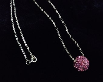 Swarovski Pink Pave Bead Necklace