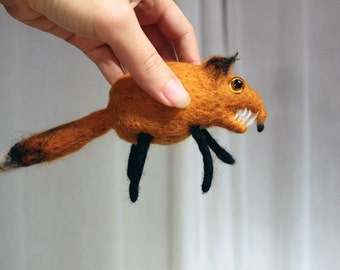 Needle Felted Fox Soft Sculpture