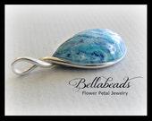 Flower Petal Jewelry, Memorial Beads, Memorial Gift Idea, Keepsake Jewelry, Funeral Flower Jewelry, Flower Petal Teardrop Pendant