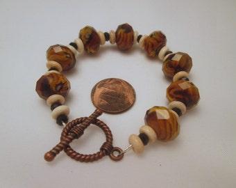 Tiger Strip Crystal Bracelet