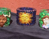 Set of 3 Candle holders God Goddess and Spirit Universe Custom Order