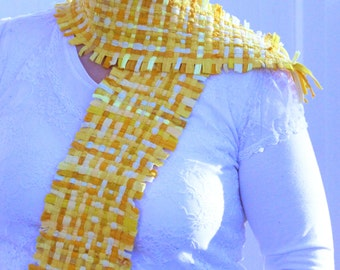 Yellow Raggle Scarf