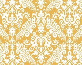 RBD, Medium Damask White on Mustard (C830-66) - cut options available
