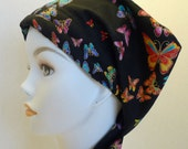 Rainbow Butterfy Hair Loss Cancer Hat Cap Head Wrap Alopecia Bad Hair Day