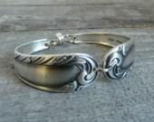 Silver Spoon Bracelet, Love Song Pattern, Silverware Jewelry