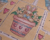 Easter Medley - Vintage Fabric - Cotton - Yellow - Dianna Marcum - Marcus Brothers