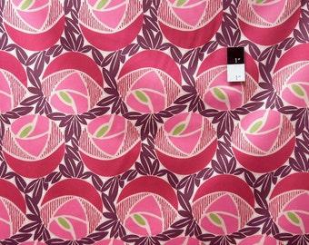 Annette Tatum SAAT004 Classica Sateen Flora Berry Cotton HOME DECOR Fabric 1 Yard