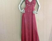 80s Merlot Nightgown    34 Bust