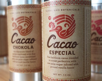 0400 Cacao Especial 7.5oz 100% organic and fair trade drinking chocolate