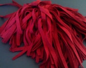 100 Mill Dyed Wool Rug Hooking Strips Romantic Rose