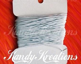 20 yards White Elastic String Cording for kandi raver bracelet kids craft jewelry beading bubblegum necklace school teacher beading children