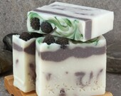 Blackberry Champagne Scented Handcrafted Cold Process Soap Bar