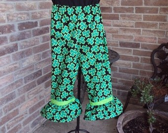St. Patricks Day Pants, Childrens size 8  only one pair,Leprechaun pants
