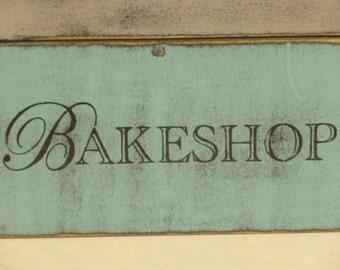 BAKESHOP SIGN / PERSONALIZED Bakeshop sign / Bakery sign / hand painted sign / custom bakeshop sign / pastry sign / bake shop sign / bake
