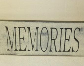 LG MEMORIES SIGN / memories / photo gallery sign / wall sign / hand painted sign / memory wall sign / wood sign / memories sign / cottage