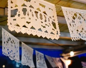 9 pack - Wedding Garland Banner VARIETY Papel Picado Fiesta Wedding Flags - Mexican Hand Cut Tissue Paper Flags