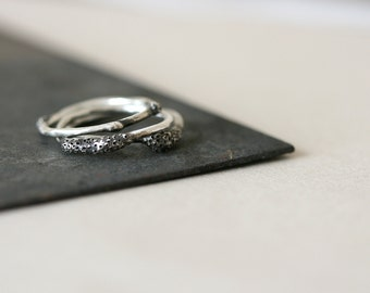 Spora Rings - Oxidized Sterling Silver Stacking Rings