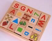 Vintage wooden blocks NOS