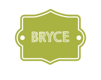 Simple Personalized Name Label