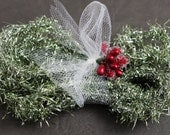 NEW! Shimmery Pale Green Tinsel Garland - Soft Vintage Style Tinsel Garland 40Inches - Christmas Tinsel Trim Pale Green