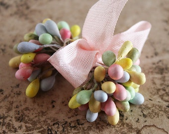 NEW! Wedding Mints Double Ended Pastel Millinery Stamens - Spring Corsage and Boutonniere Making Supplies